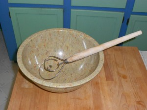 Sturdy Bowl and Dough Whisk