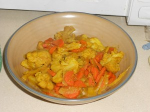 Cauliflower Carrot Curry