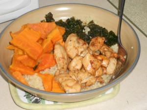 Lemon-Soy-Sesame Chicken & Kale
