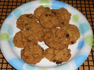 Oatmeal Raisin Cookies, gluten-free, vegan