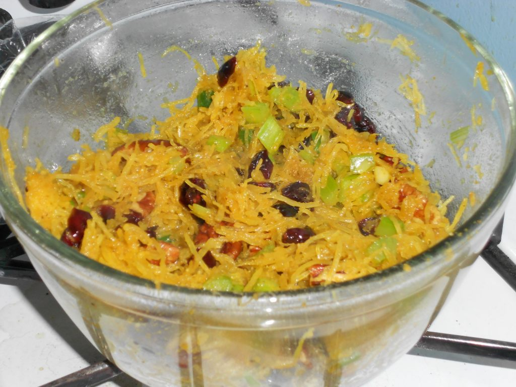 Spaghetti Squash with Craisins and Pecans