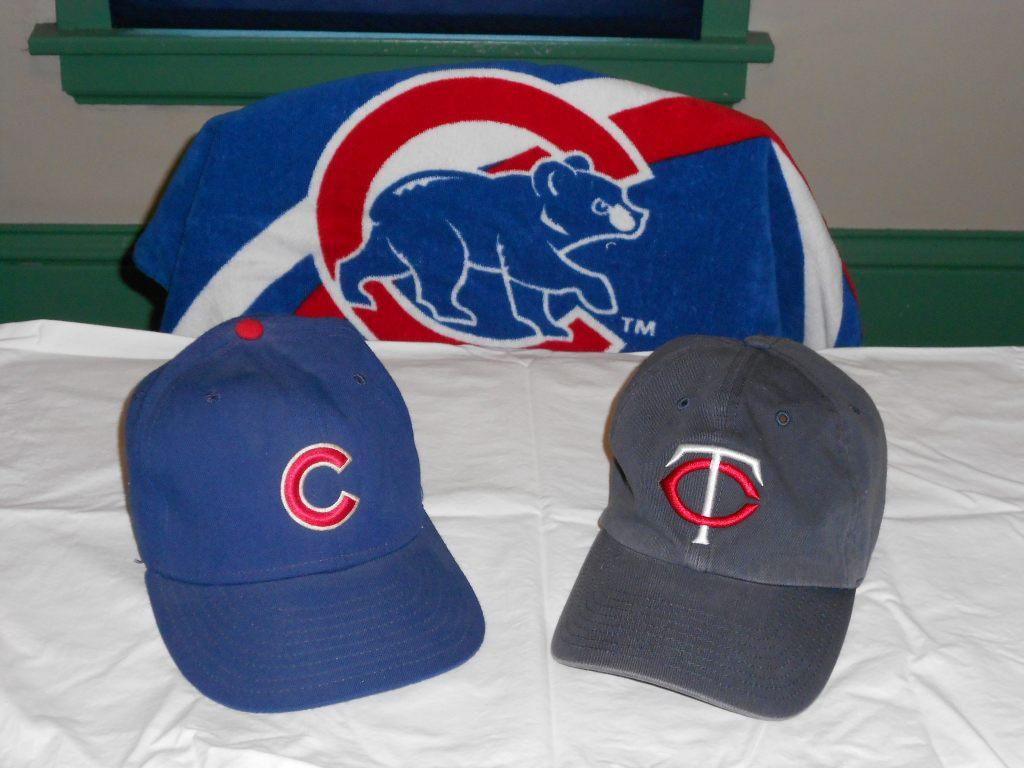 Cubs Twins Caps